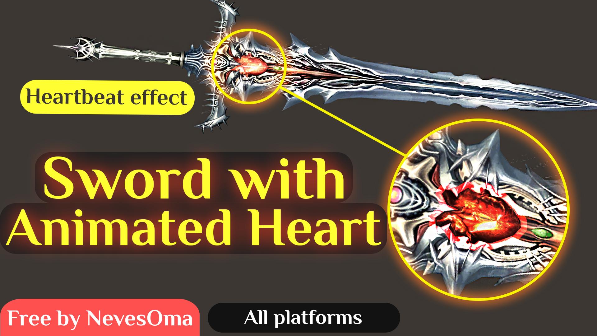 (Шара) Меч с эффектом реального Сердцебиения для Lineage 2 Interlude от NevesOma